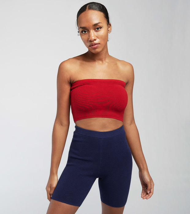 Fila  Alessi Bandeau Crop Top   Red - LW119851-607 | Jimmy Jazz
