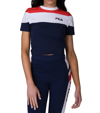 Fila  Maya Crop Tee  Navy - LW181K37-410 | Jimmy Jazz