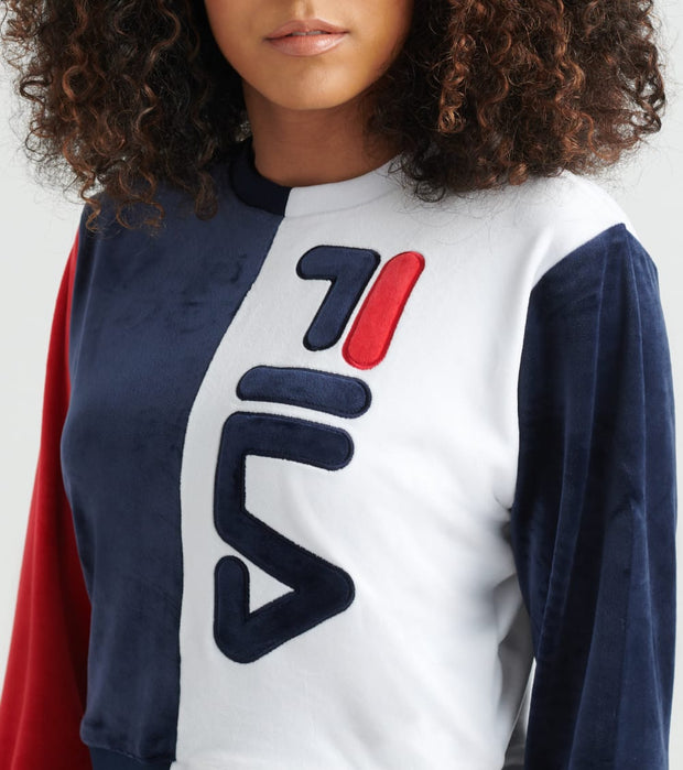 Fila  Nicoline Velour Sweatshirt  Navy - LW933179-411 | Jimmy Jazz