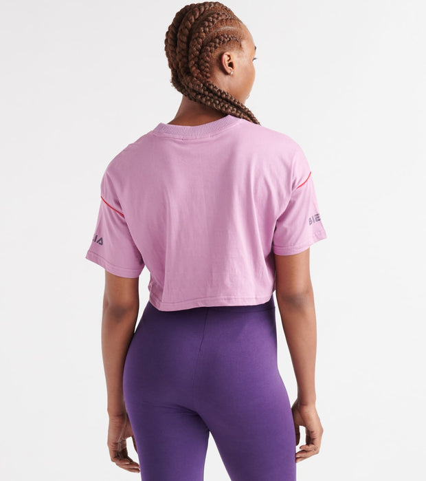 Fila  Kana Crop Tee  Purple - LW933298-585 | Jimmy Jazz
