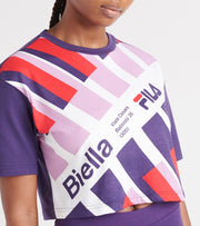 Fila  Michi Crop Tee  Purple - LW933299-565 | Jimmy Jazz