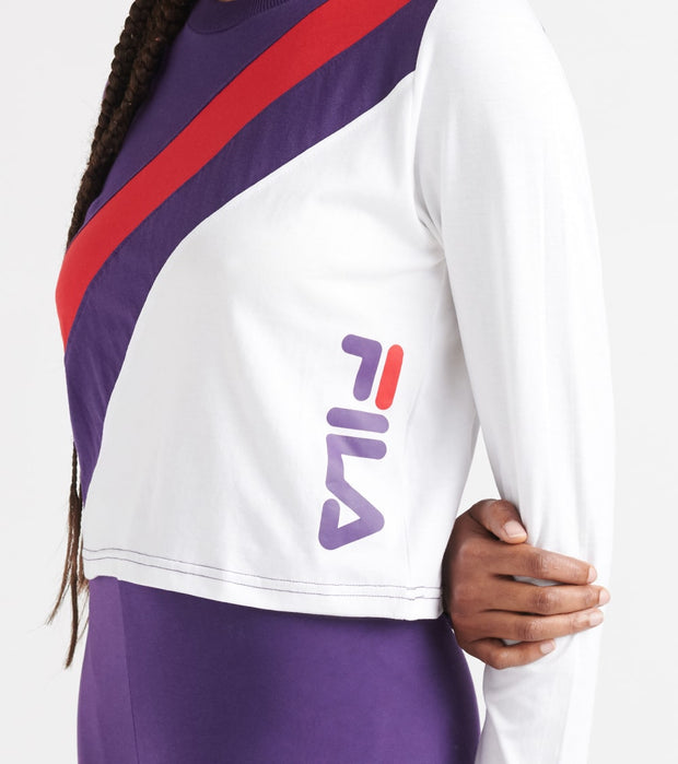 Fila  Ayeka LS Crop Tee  Multi - LW933311-565 | Jimmy Jazz