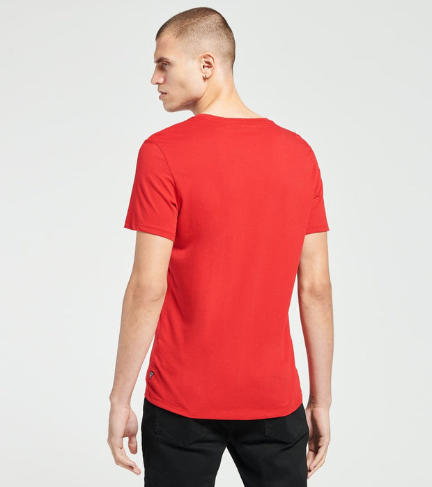 Guess  Racer Logo Crew Neck Tee  Red - M0G391K8FYH-RED | Jimmy Jazz