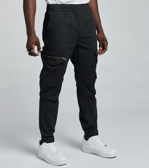 Guess  Utility Poplin Jogger Pants  Black - M0YB05R0500-JBLK | Jimmy Jazz