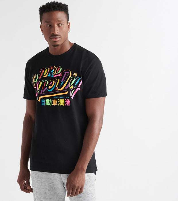 Superdry  Ticket Type Box Fit Short Sleeve Tee  Black - M1000046A-02A | Jimmy Jazz