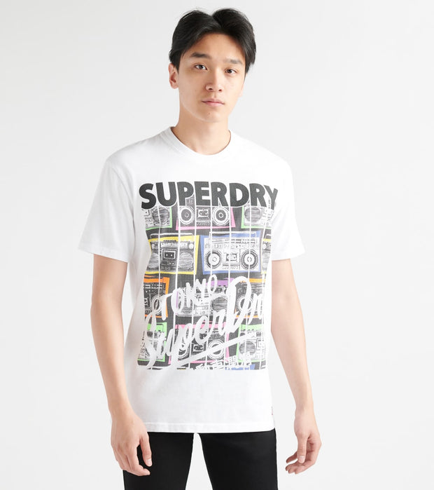 Superdry  Ticket Type Infill SS Tee  White - M10144TU-01C | Jimmy Jazz