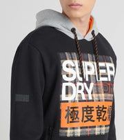 Superdry  Crafted Check Contrast Hoodie  Black - M2000101A-BLK | Jimmy Jazz