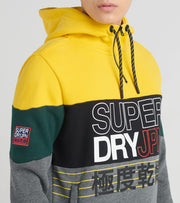 Superdry  Crafted Print Half Zip Hood  Multi - M2000106A-GRA | Jimmy Jazz