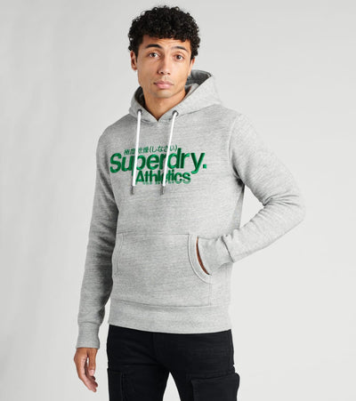 Superdry  Core Logo Athletics Hoodie  Grey - M2010417A-GRY | Jimmy Jazz