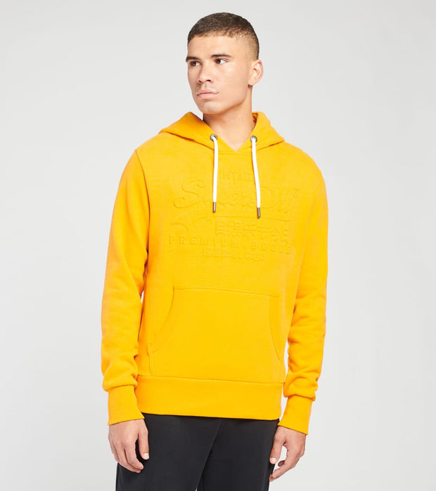 Superdry  Vintage Logo Emboss Hoodie  Gold - M2010437A-GLD | Jimmy Jazz