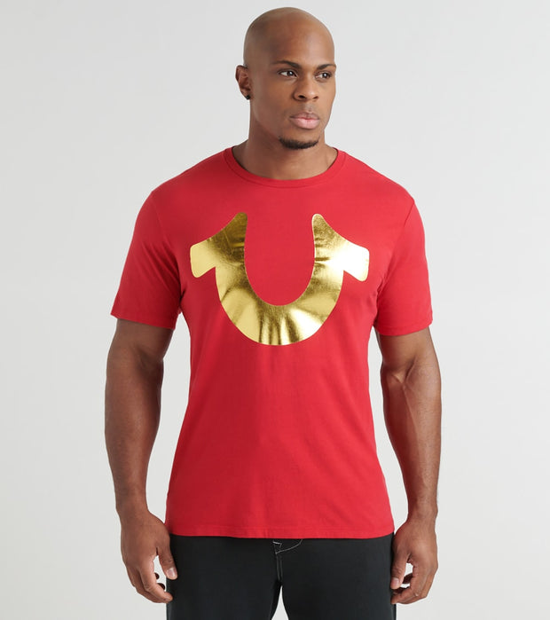 True Religion  Gold Horseshoe Tee  Red - M4O8U24EOG6000-RRD | Jimmy Jazz
