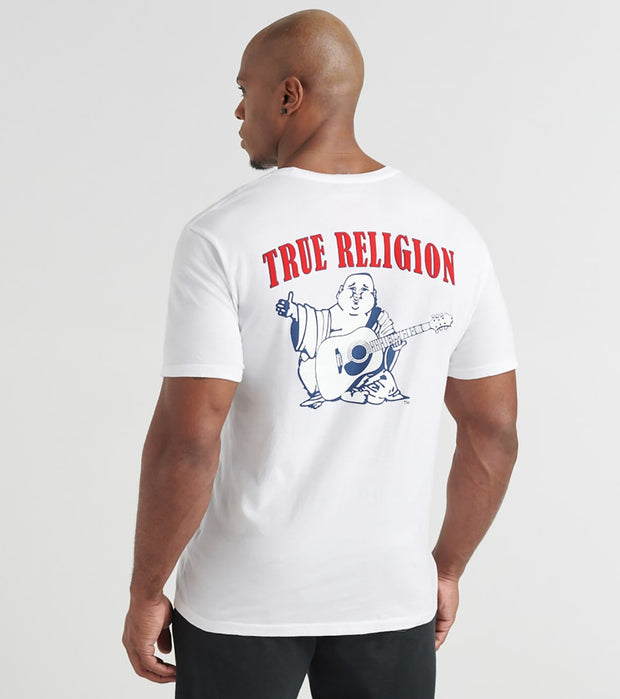 True Religion  Buddha Logo Crew Neck Tee  White - M4O8U24JV71700-WHT | Jimmy Jazz