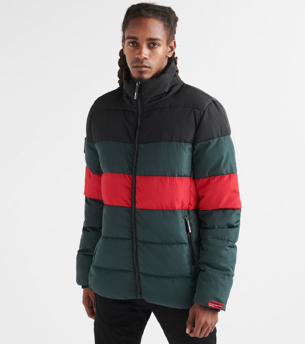 Superdry  Color Stripe Sports Puffer Jacket  Navy - M5000012A-N6I | Jimmy Jazz