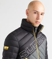 Superdry  Incline Quilt Fuji Jacket  Black - M5000059A-02A | Jimmy Jazz