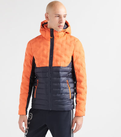 Superdry  Radar Mix Quilt Fuji Jacket  Orange - M5000076A-K6O | Jimmy Jazz