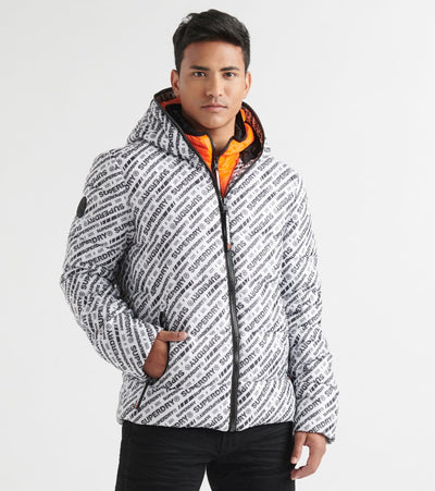 Superdry  Street Line Puffer Jacket  White - M5000084A-N4A | Jimmy Jazz
