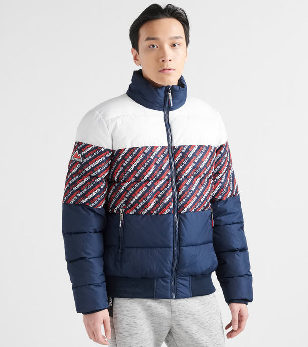 Superdry  Track Sports Puffer Jacket  Navy - M5000131A-NAV | Jimmy Jazz