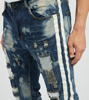 Waimea  Side Tape Bleached Jeans L32  Blue - M5049D-BLW | Jimmy Jazz