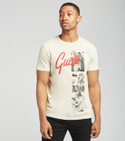 Guess  Guess Script Photo Short Sleeve Tee  White - MBGI31R9RM4-G1Z6 | Jimmy Jazz