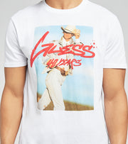 Guess  Guess Graffiti Photo Short Sleeve Tee  White - MBGI31R9RM6-G011 | Jimmy Jazz