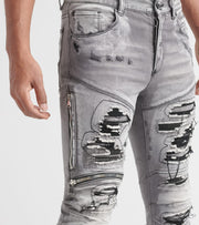 Rock Star  Gunner Jeans  Grey - MK207TBV-GRY | Jimmy Jazz