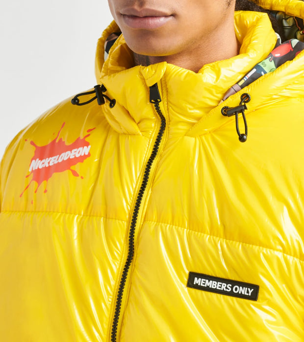 Members Only  Spongebob Puffer Coat  Yellow - MN050120-YEL | Jimmy Jazz