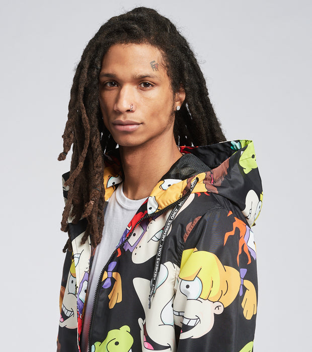 Members Only  Rugrats Characters Jacket  Black - MN050142-BLK | Jimmy Jazz