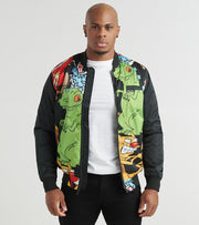 Members Only  Mash Print Bomber  Black - MN30086-BLK | Jimmy Jazz