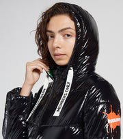 Members Only  Nickelodeon High Shine Puffer Coat  Black - MNL050101-BLK | Jimmy Jazz