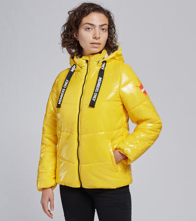 Members Only  Nickelodeon High Shine Puffer Coat  Yellow - MNL050101-YLW | Jimmy Jazz