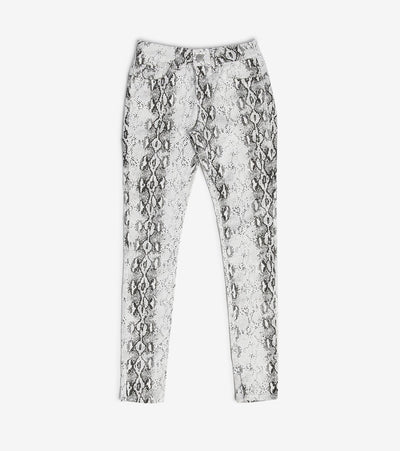 Essentials  Snake Print Skinny Pants  White - MR17315SK-SNK | Jimmy Jazz