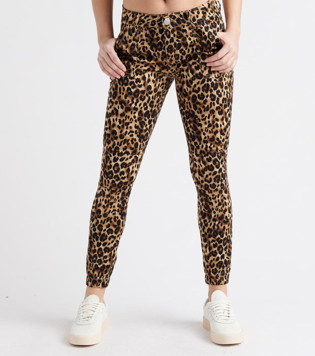 Essentials  Cheetah Twill Button Jogger  Multi - MR280625-ANM | Jimmy Jazz