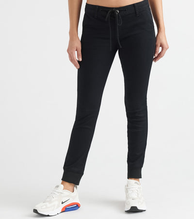 Essentials  Fleece Rib Cuff Twill Jogger  Black - MR280841SBK-BLK | Jimmy Jazz