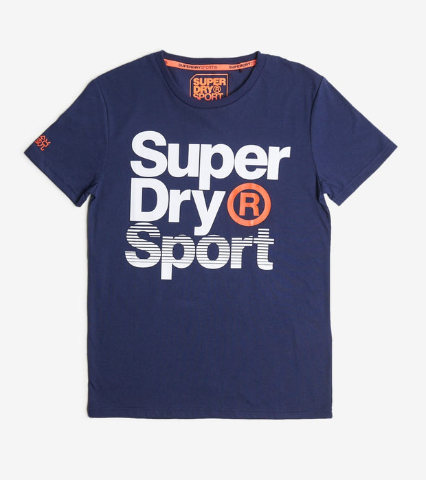Superdry  Core Sport Graphic Tee  Navy - MS300010A-DIM | Jimmy Jazz