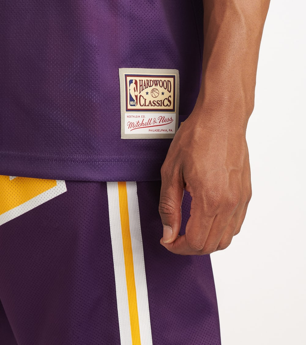 Mitchell And Ness  Big Face Lakers Jersey  Purple - MSTKBW19068-LAL | Jimmy Jazz