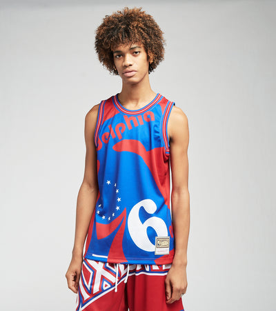 Mitchell And Ness  76ers Blown Out Fashion Jersey  Red - MSTKBW19146P76-RED1 | Jimmy Jazz