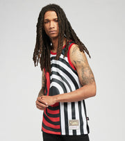 Mitchell And Ness  Trailblazers Blown Out Fashion Jersey  Black - MSTKBW19146PTB-BLCK | Jimmy Jazz