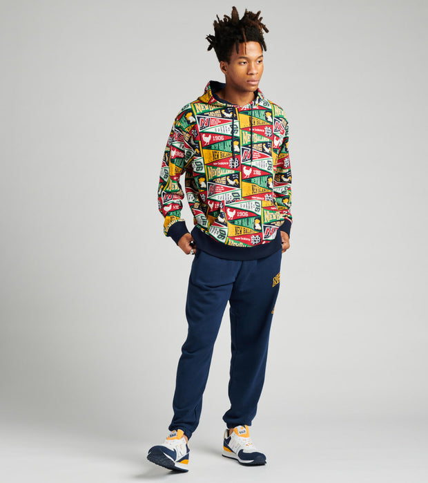 New Balance  Athletics Varsity All Over Print Hoodie  Multi - MT03544-ASE | Jimmy Jazz