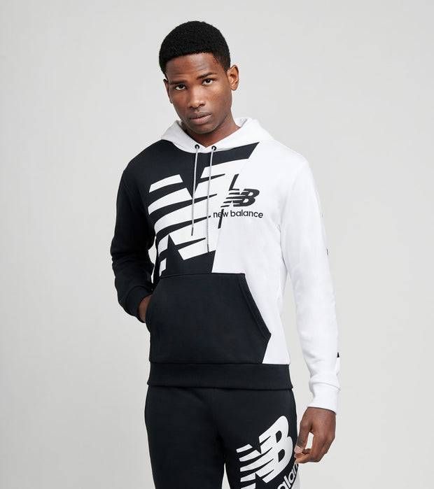 New Balance  Athletics Splice Pullover Hoodie  Black - MT11511-BM | Jimmy Jazz