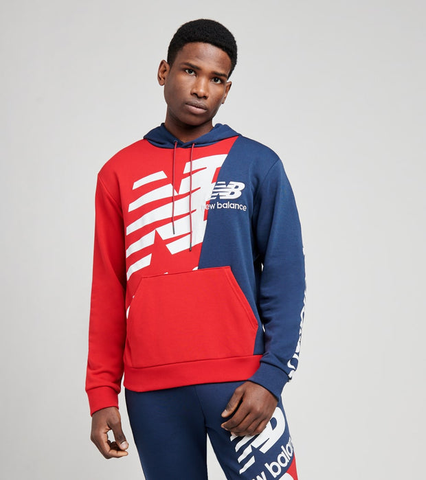 New Balance  Athletics Splice Pullover Hoodie  Red - MT11511-REP | Jimmy Jazz