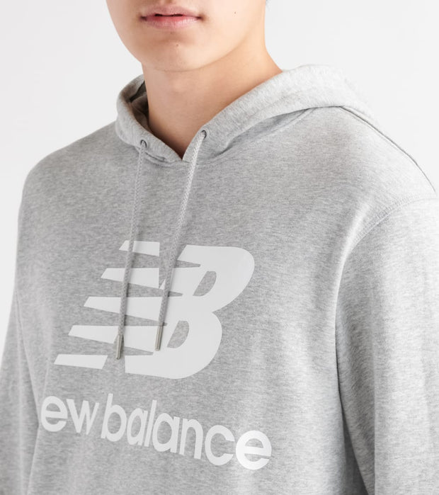 New Balance  Essentials Stacked Logo Sweatpants  Grey - MT91547-AG | Jimmy Jazz