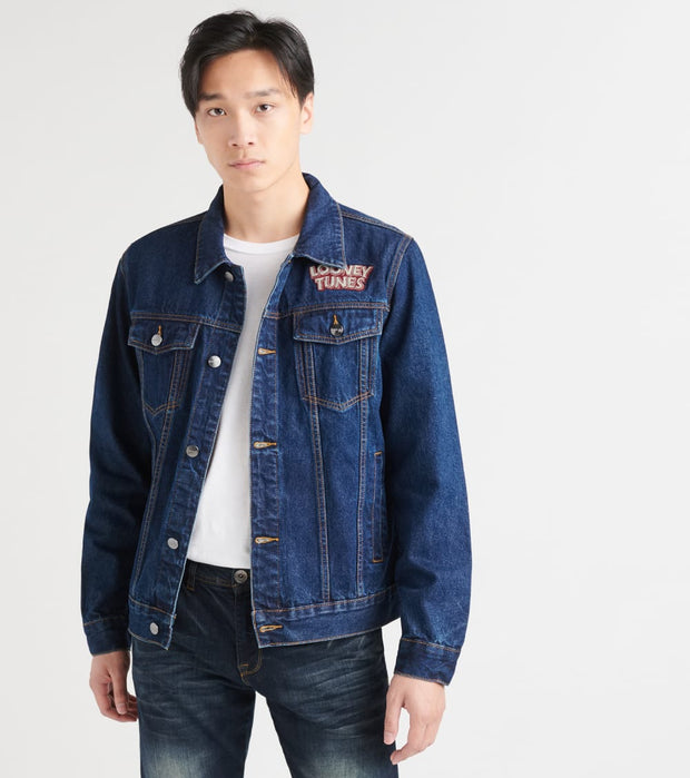 Members Only  Looney Tunes Denim Tracker Jacket  Blue - MW030005-DIN | Jimmy Jazz