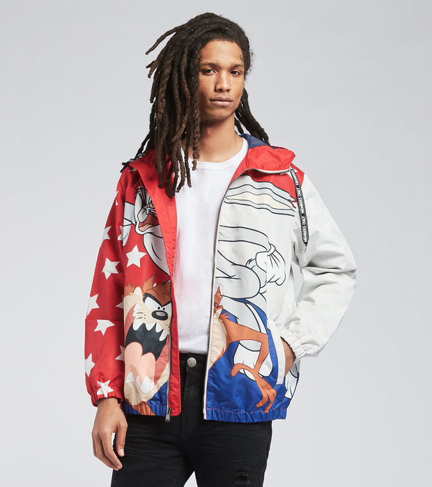 Members Only  Bugs Bunny and Taz Jacket  Red - MW060201-RED | Jimmy Jazz