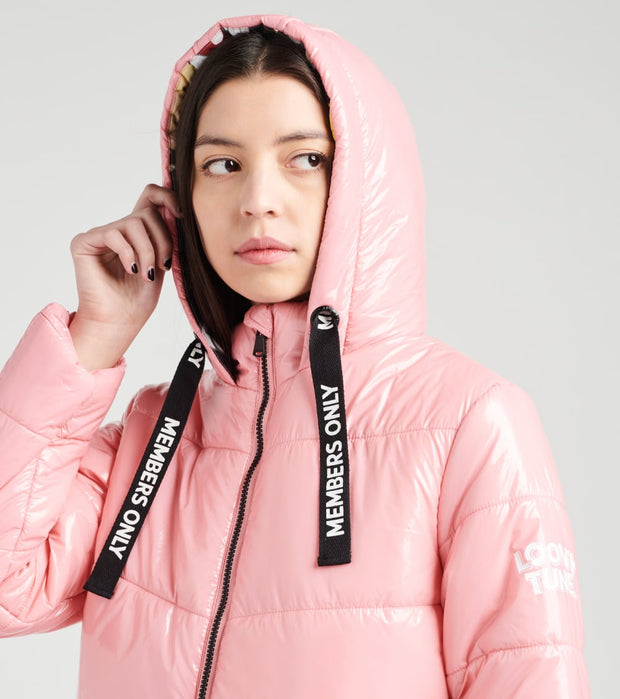 Members Only  Looney Tunes Puffer Coat  Pink - MWL050103-PNK | Jimmy Jazz