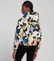 Members Only  Looney Tunes Reversible Faux Fur Jacket  White - MWL050711-WHT | Jimmy Jazz