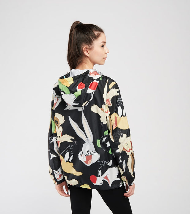 Members Only  All Over Print Looney Tunes Wind Breaker  Black - MWL160117-BLK | Jimmy Jazz
