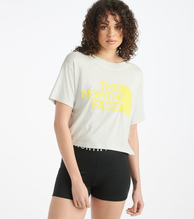 The North Face  Half Dome Crop Tee  Grey - NF0A4AUF-9B8 | Jimmy Jazz
