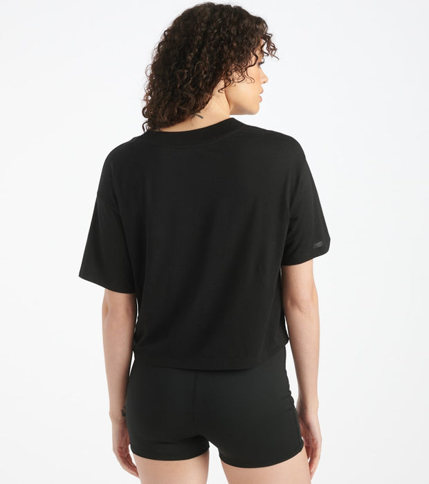 The North Face  Half Dome Crop Tee  Black - NF0A4AUF-JK3 | Jimmy Jazz