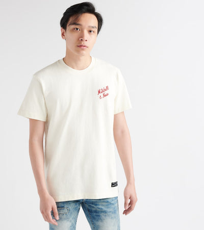Mitchell And Ness  Logo Original Tee  White - NG18701MNN-OFW | Jimmy Jazz