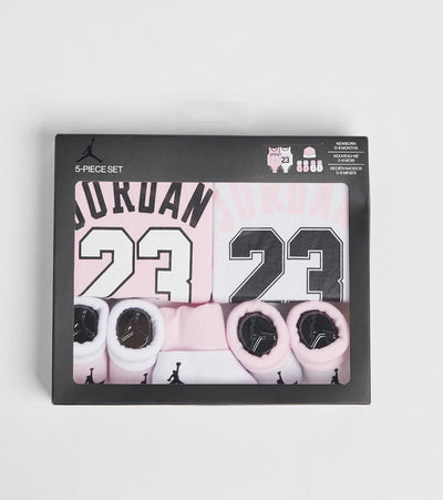 Jordan  Infant Jordan Jersey 5-Piece Box Set  Pink - NJ0340-A9Y | Jimmy Jazz